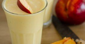 Летен, суров крем с праскови, кашу и кокосово масло