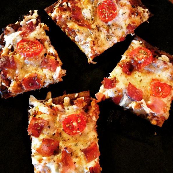Пица без угризения: Здравословна пица с блат от сладък картоф