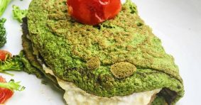 Delicious Spinach Pancake with Salmon Filling