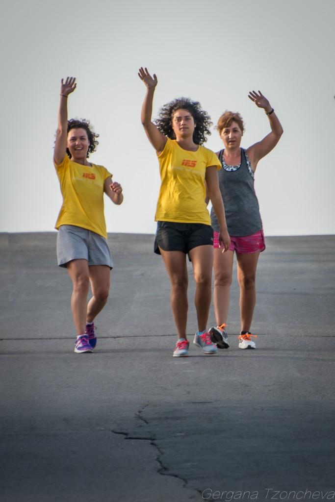 Славена, Моника и Валентина, IFS Bootcamp, снимка: Гергана Цончева