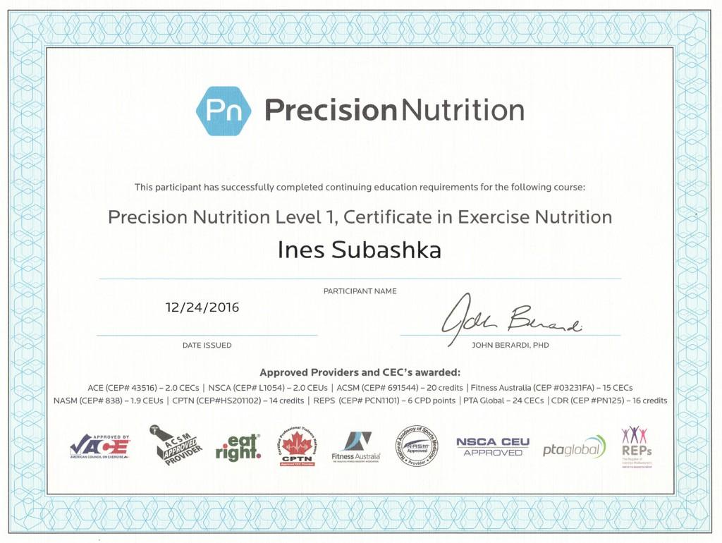 PN Certificate 1