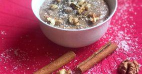 Есенен пудинг с кестени и кокосово мляко