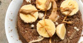 Мини какаов кекс с банан и тахан от кашу